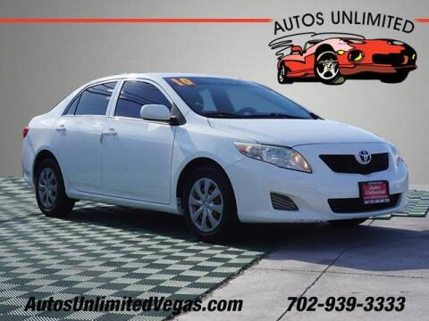 2010 Toyota Corolla for sale at Autos Unlimited in Las Vegas NV