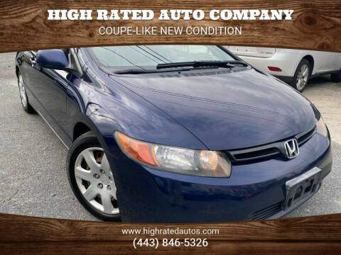 2007 Honda Civic for sale at High Rated Auto Company in Abingdon MD