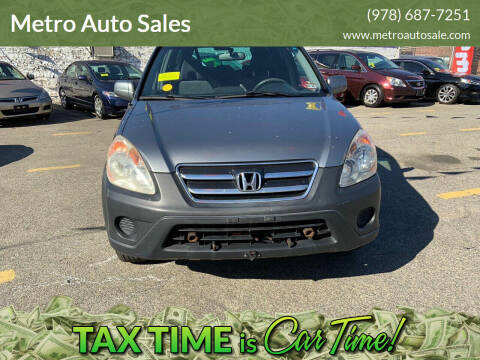 2006 Honda CR-V for sale at Metro Auto Sales in Lawrence MA