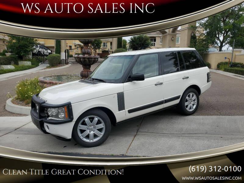 2006 Land Rover Range Rover for sale at WS AUTO SALES INC in El Cajon CA