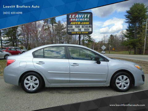2012 Subaru Impreza for sale at Leavitt Brothers Auto in Hooksett NH