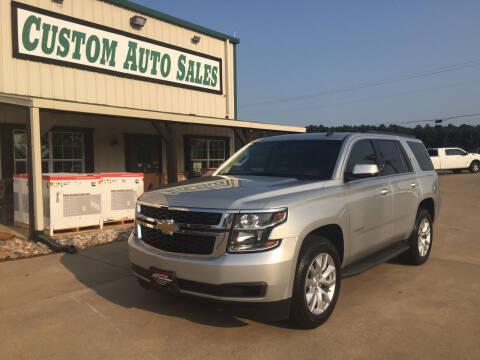 2015 Chevrolet Tahoe for sale at Custom Auto Sales - AUTOS in Longview TX