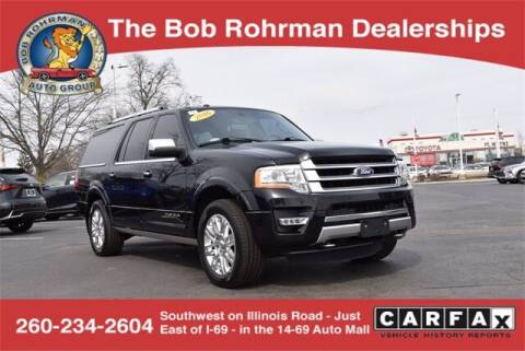 2016 Ford Expedition EL for sale at BOB ROHRMAN FORT WAYNE TOYOTA in Fort Wayne IN