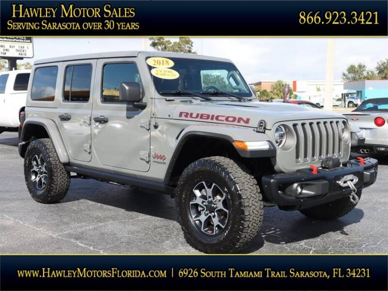 2018 Jeep Wrangler Unlimited for sale at Hawley Motor Sales in Sarasota FL