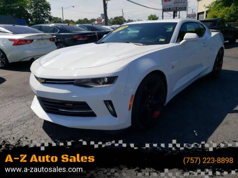 2018 Chevrolet Camaro for sale at A-Z Auto Sales in Newport News VA