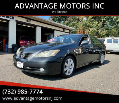 2007 Lexus ES 350 for sale at ADVANTAGE MOTORS INC in Edison NJ