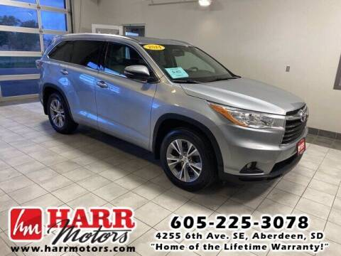 2014 Toyota Highlander for sale at Harr's Redfield Ford in Redfield SD