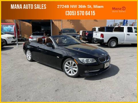 2012 BMW 3 Series for sale at MANA AUTO SALES in Miami FL