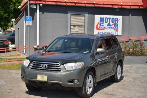 2010 Toyota Highlander for sale at Motor Car Concepts II - Kirkman Location in Orlando FL