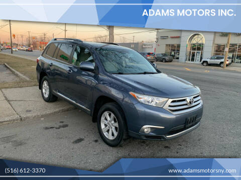 2012 Toyota Highlander for sale at Adams Motors INC. in Inwood NY