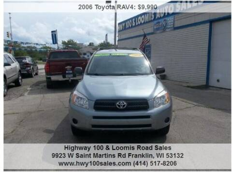 2006 Toyota RAV4 for sale at Highway 100 & Loomis Road Sales in Franklin WI