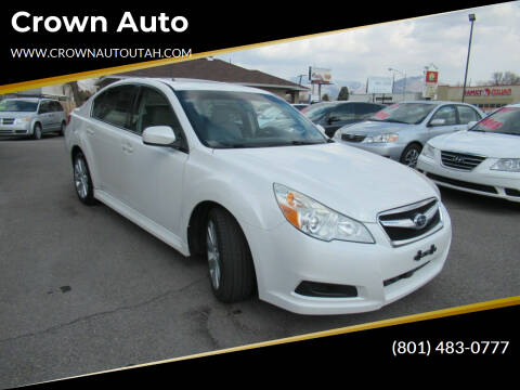 2010 Subaru Legacy for sale at Crown Auto in South Salt Lake City UT
