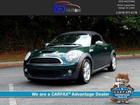 2013 MINI Roadster for sale at Zed Motors in Raleigh NC