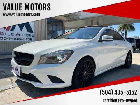 2014 Mercedes-Benz CLA for sale at VALUE MOTORS in Kenner LA