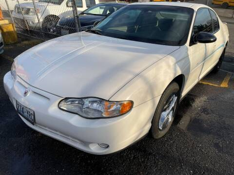 2002 Chevrolet Monte Carlo for sale at SNS AUTO SALES in Seattle WA