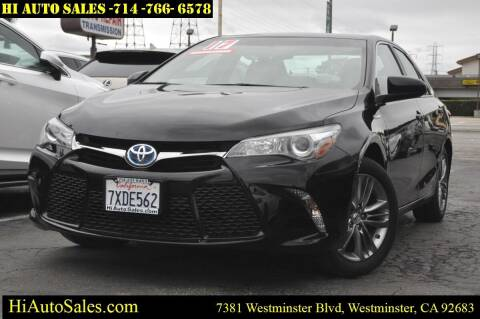 2017 Toyota Camry Hybrid for sale at Hi Auto Sales in Westminster CA