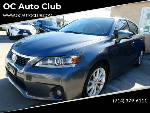 2013 Lexus CT 200h for sale at OC Auto Club in Midway City CA