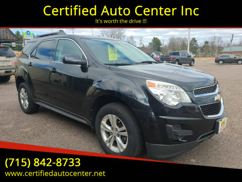 2012 Chevrolet Equinox for sale at Certified Auto Center Inc in Wausau WI