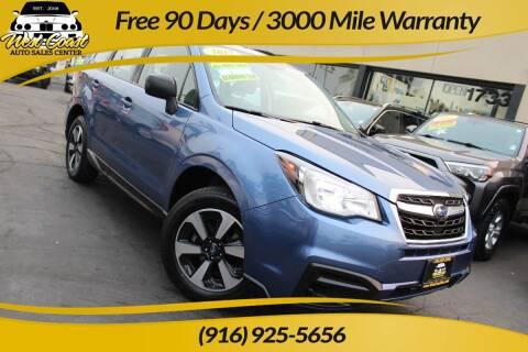 2017 Subaru Forester for sale at West Coast Auto Sales Center in Sacramento CA