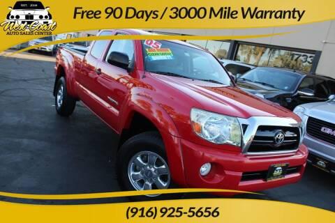 2005 Toyota Tacoma for sale at West Coast Auto Sales Center in Sacramento CA