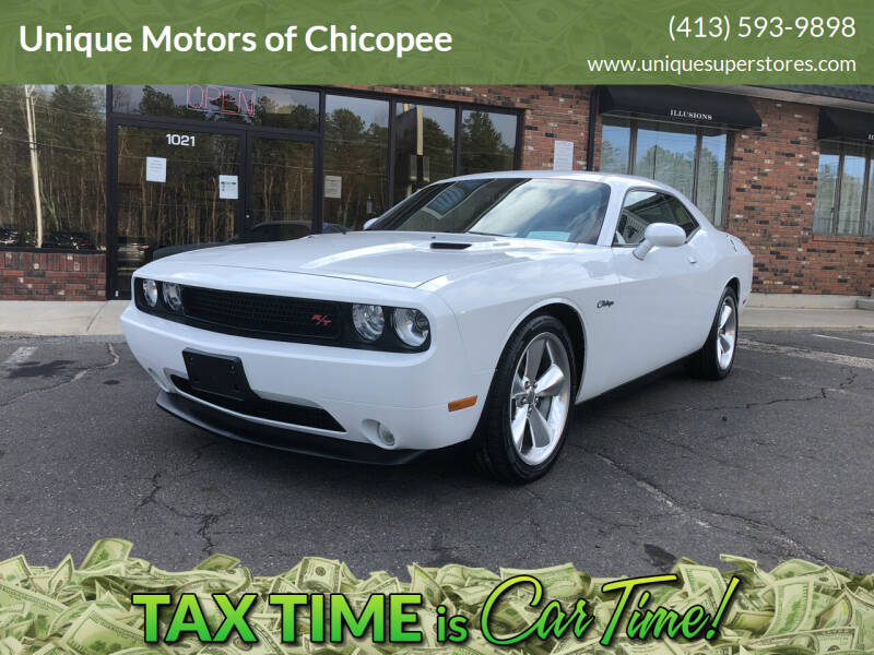 2013 Dodge Challenger for sale at Unique Motors of Chicopee in Chicopee MA