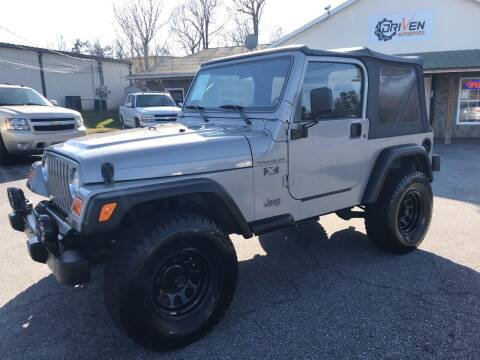2002 Jeep Wrangler for sale at Driven Pre-Owned in Lenoir NC