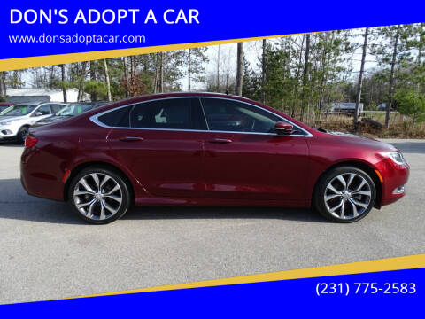 2016 Chrysler 200 for sale at DON'S ADOPT A CAR in Cadillac MI
