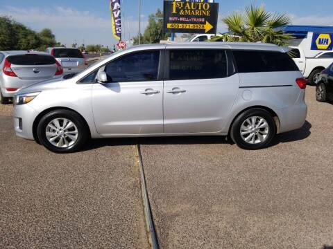 2016 Kia Sedona for sale at 1ST AUTO & MARINE in Apache Junction AZ