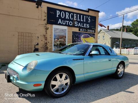 2002 Ford Thunderbird for sale at Porcelli Auto Sales in West Warwick RI