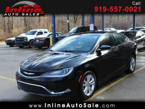 2015 Chrysler 200 for sale at Inline Auto Sales in Fuquay Varina NC