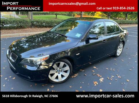 2007 BMW 5 Series for sale at Import Performance Sales in Raleigh NC