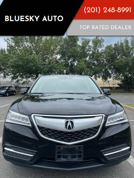 2016 Acura MDX for sale at Bluesky Auto in Bound Brook NJ