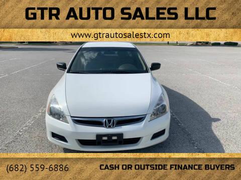 2007 Honda Accord for sale at GTR Auto Sales LLC in Haltom City TX