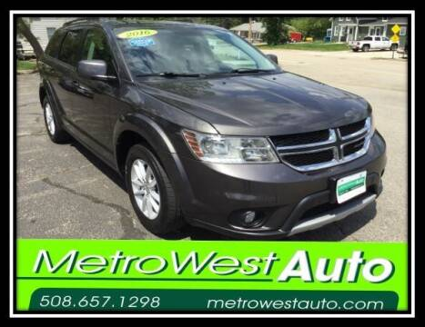 2016 Dodge Journey for sale at Metro West Auto in Bellingham MA