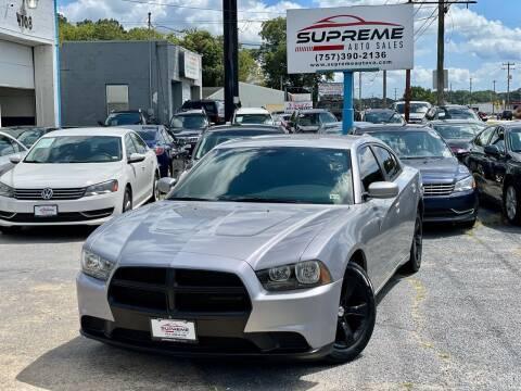 2014 Dodge Charger for sale at Supreme Auto Sales in Chesapeake VA