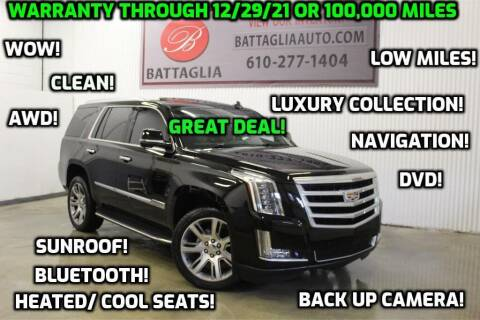 2016 Cadillac Escalade for sale at Battaglia Auto Sales in Plymouth Meeting PA