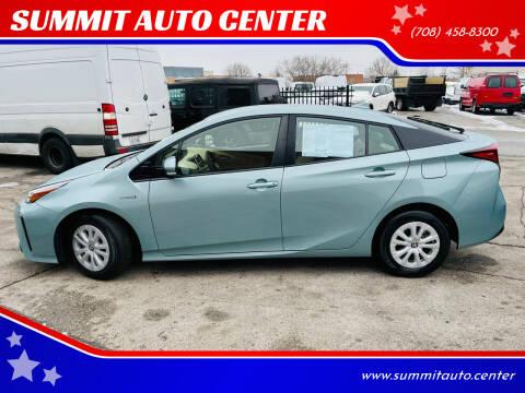 2019 Toyota Prius for sale at SUMMIT AUTO CENTER in Summit IL