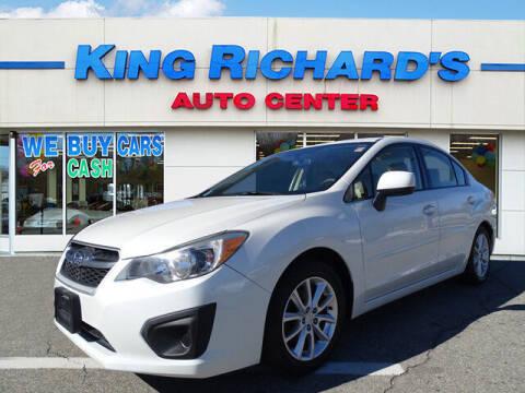 2013 Subaru Impreza for sale at KING RICHARDS AUTO CENTER in East Providence RI