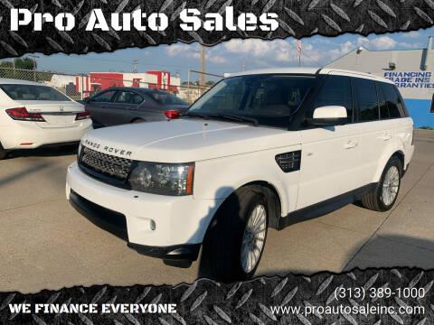 2013 Land Rover Range Rover Sport for sale at Pro Auto Sales in Lincoln Park MI