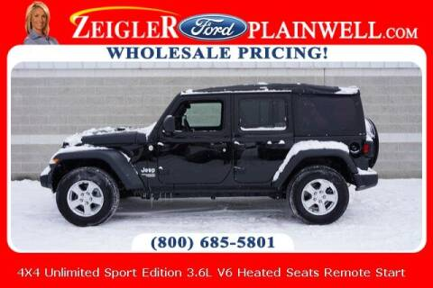 2019 Jeep Wrangler Unlimited for sale at Zeigler Ford of Plainwell- Jeff Bishop in Plainwell MI