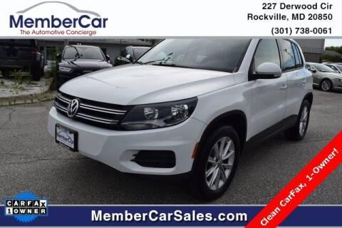 2017 Volkswagen Tiguan for sale at MemberCar in Rockville MD