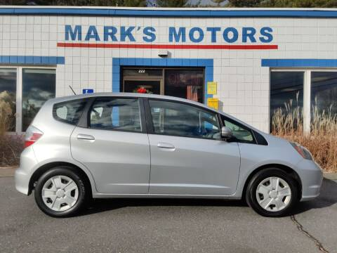 2013 Honda Fit for sale at Mark's Motors in Northampton MA