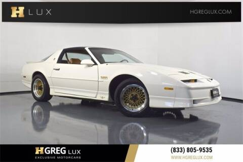 1989 Pontiac Firebird for sale at HGREG LUX EXCLUSIVE MOTORCARS in Pompano Beach FL