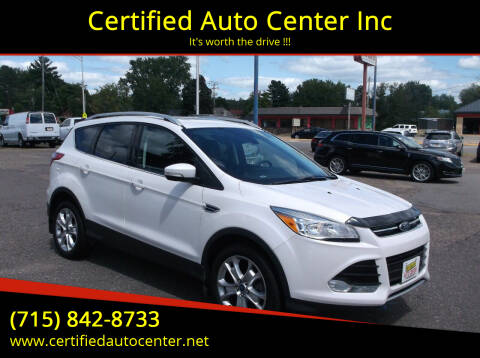 2016 Ford Escape for sale at Certified Auto Center Inc in Wausau WI