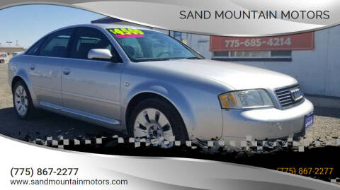 2001 Audi A6 for sale at Sand Mountain Motors in Fallon NV