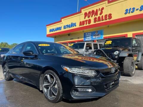 2018 Honda Accord for sale at Popas Auto Sales in Detroit MI