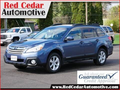 2014 Subaru Outback for sale at Red Cedar Automotive in Menomonie WI