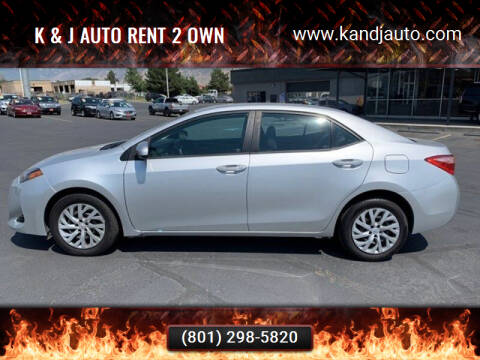 2017 Toyota Corolla for sale at K & J Auto Rent 2 Own in Bountiful UT