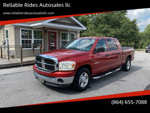 2008 Dodge Ram Pickup 1500 for sale at Reliable Rides Autosales llc in Greer SC