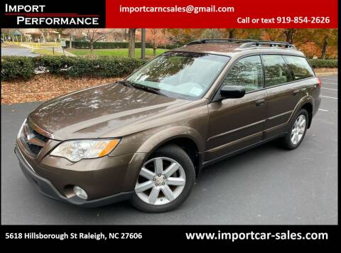 2008 Subaru Outback for sale at Import Performance Sales in Raleigh NC